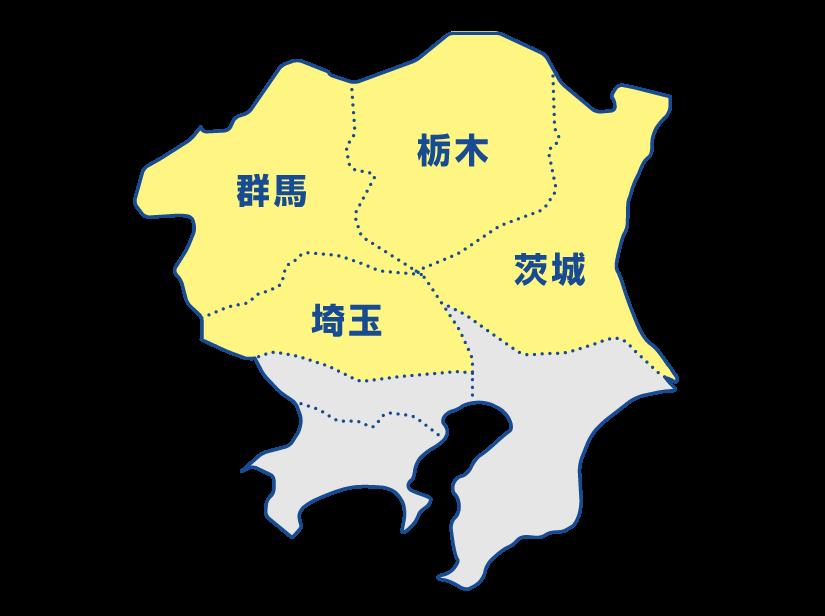 屋根リフォーム対応地域,栃木,茨城,群馬,埼玉