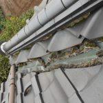 台風による漆喰破損